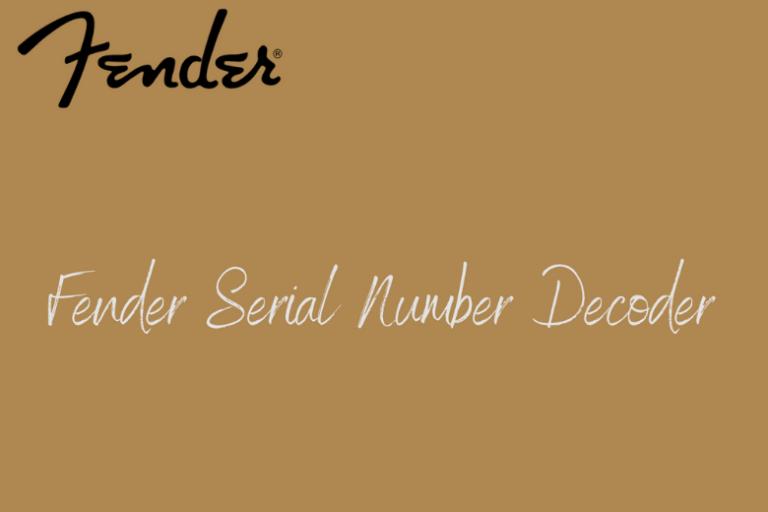 Fender Serial Number